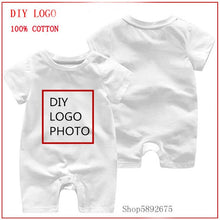 Load image into Gallery viewer, Baby Short Sleeved French Polynesia Flag Fingerprint Summer Unisex Romper Baby Clothes