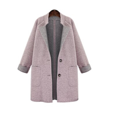 Women Jackets European Style Plus Size 4XL Female Outerwear Loose Wool&Blends Basic Coats Brand Cardigans