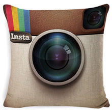 Load image into Gallery viewer, Fokusent Social Media Sofa Throw Pillow Case Cushion Cover