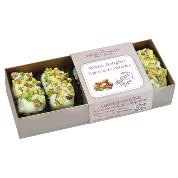 White Delights Topped with Pistachio