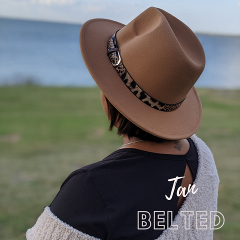 Image of Helen Leopard Belted Hat