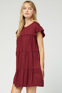Wine Tiered dress