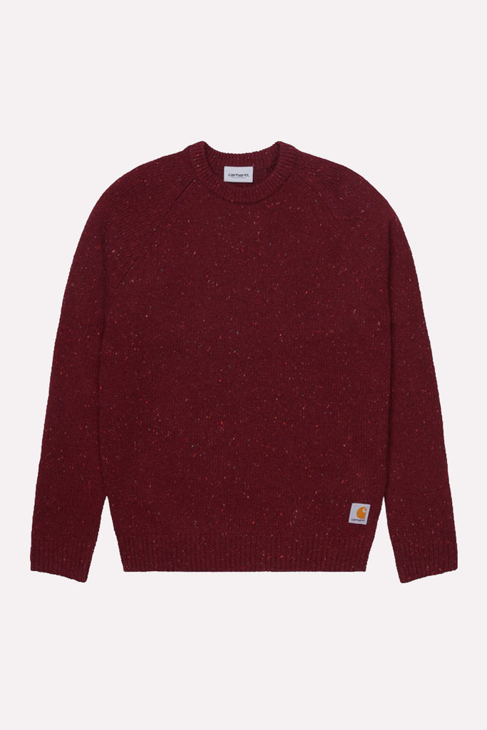 Carhartt Anglistic Burgundy Sweater