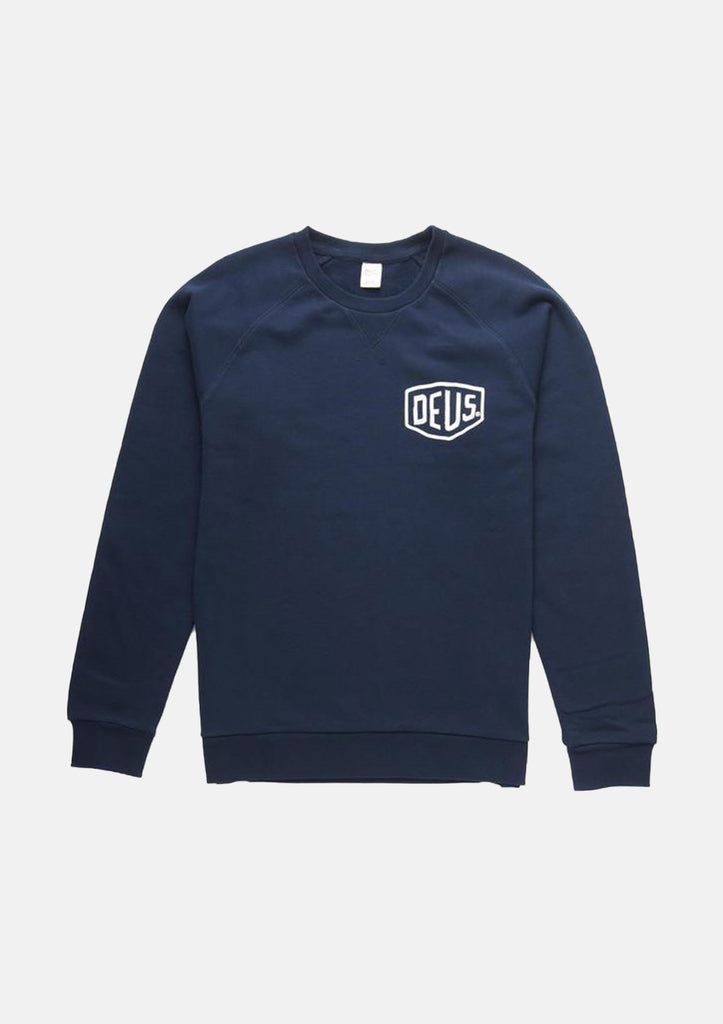Deus Navy Venice Address Sweater