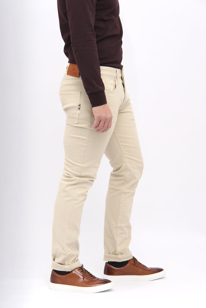 Scotch & Soda Sand Beige Slim-fit Ralston Jeans