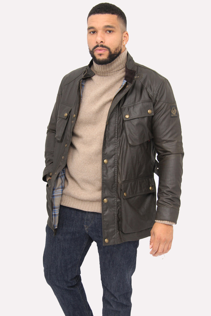 Belstaff Trialmaster Faded Olive Jacket