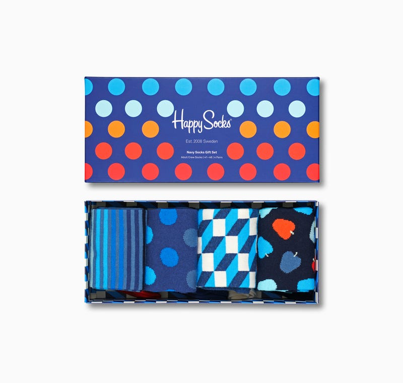 Happy Socks Navy 4-Pack Set