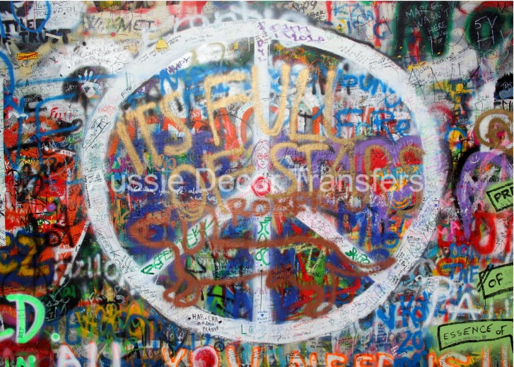 Graffiti Peace Poster Print - ONLY AVAILABLE IN AUSTRALIA atm
