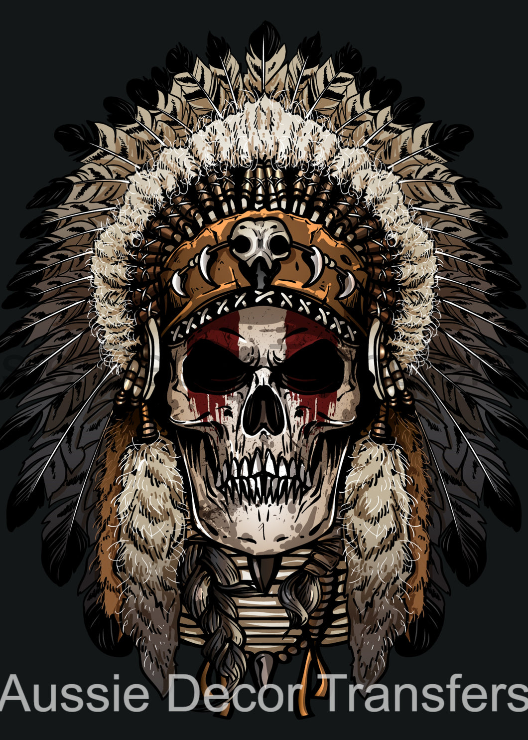 <transcy>Indian Skull - Poster Print disponible AUS UNIQUEMENT ATM</transcy>