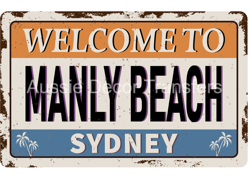 Manly Beach Welcome Sign - Poster Print available AUS ONLY atm