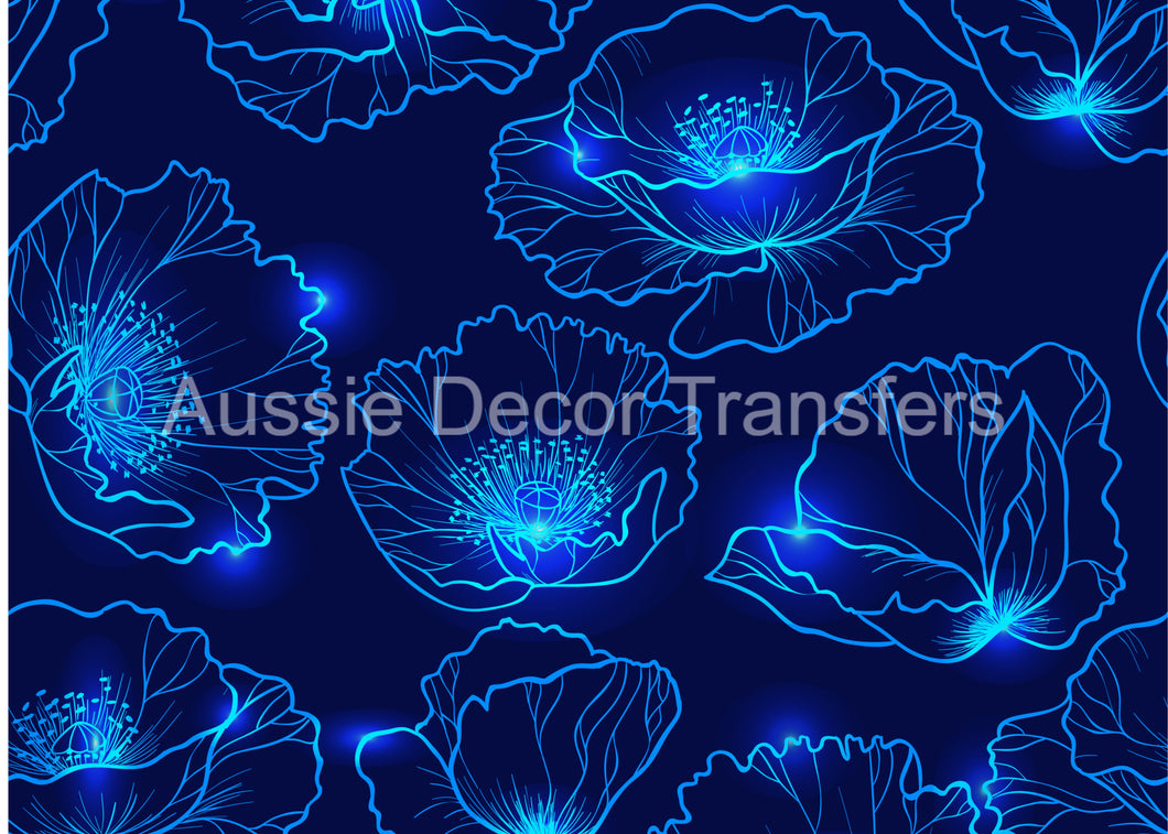<transcy>Lotus bleu brillant - impression d'affiche disponible AUS UNIQUEMENT ATM</transcy>