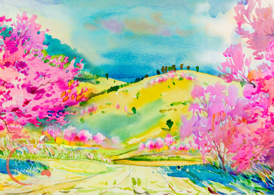 Blossom Valley - Tissue Decoupage Paper