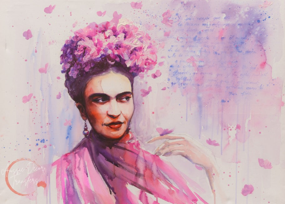 Frida in Pink - Tissue Decoupage Paper - 40gsm