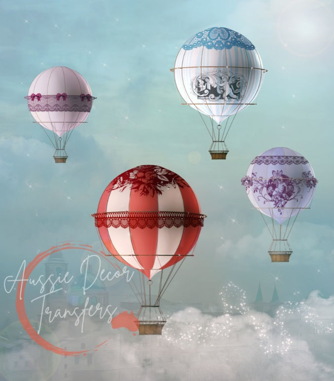 Up! Up! and Away! - Tissue Decoupage Paper