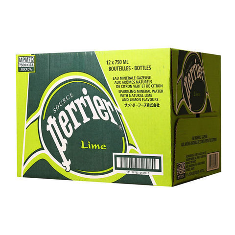 Perrier Lime, 25 oz Bottles, case of 12