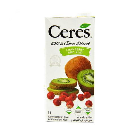 Ceres Fruit Juice, Cranberry and Kiwi