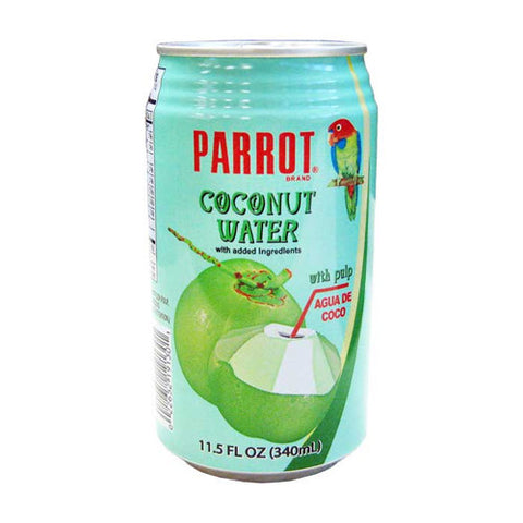 Coconut Water w/ Pulp, Parrot, Cans