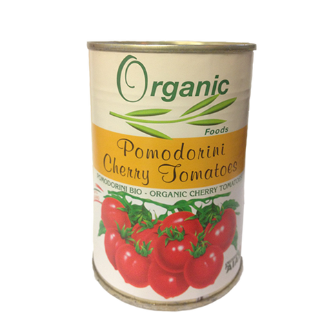 Tomato, Organic Whole Cherry, Imported, Can