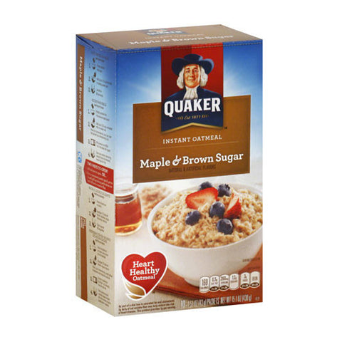 Instant Oatmeal, Maple & Brown Sugar, Quaker