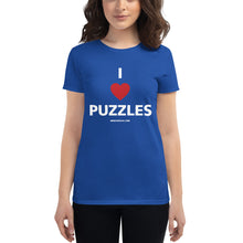 Load image into Gallery viewer, I Heart Puzzles Women's Tee