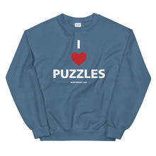Load image into Gallery viewer, I Heart Puzzles Crewneck Sweatshirt