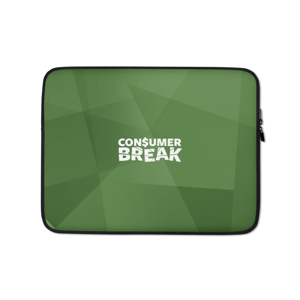 Green ConsumerBreak® Laptop Sleeve