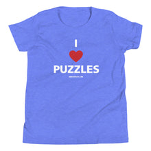 Load image into Gallery viewer, I Love Puzzles Youth Short Sleeve T-Shirt