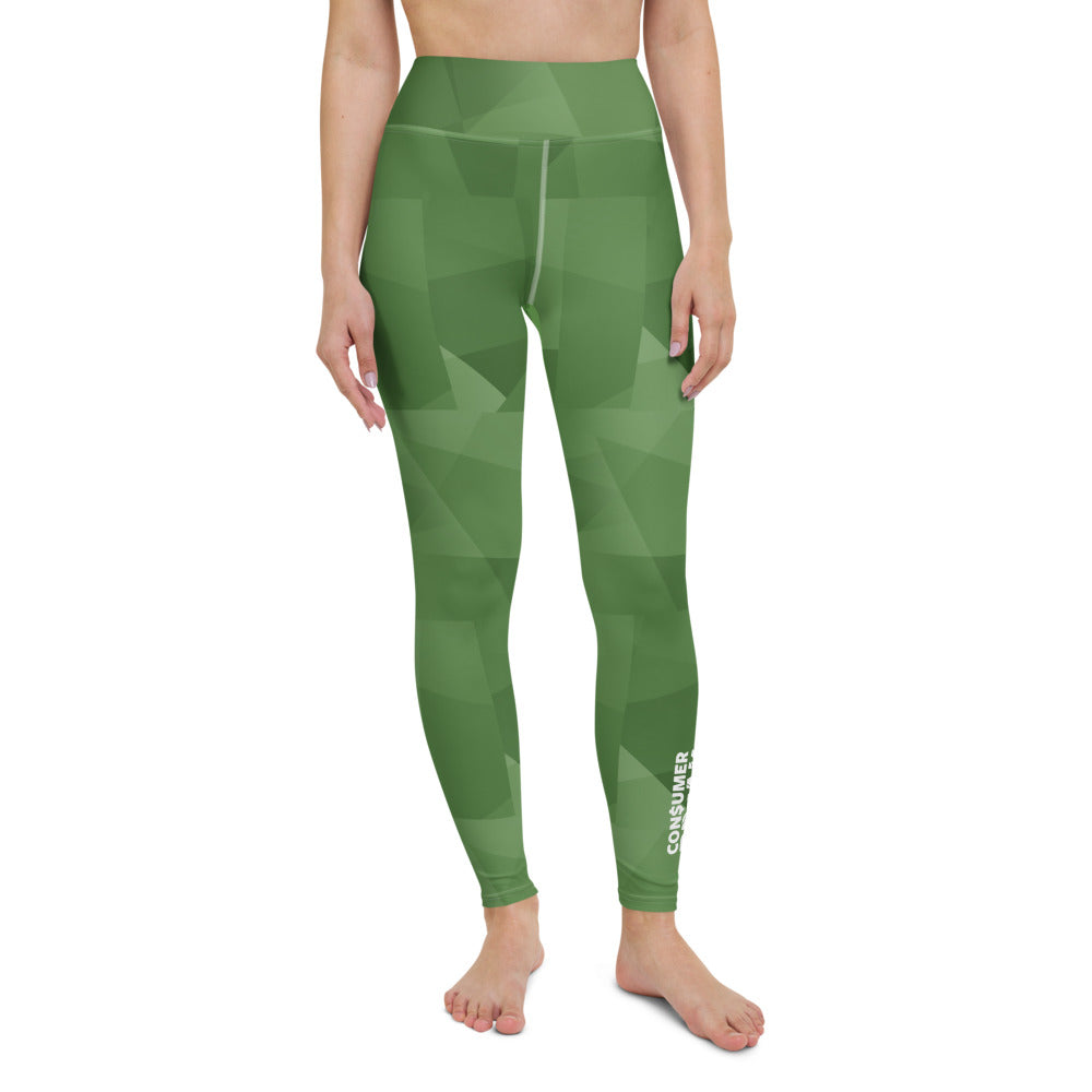 Green Pattern ConsumerBreak® Yoga Leggings