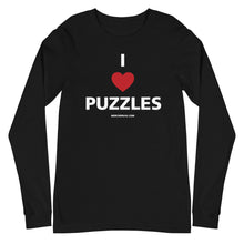 Load image into Gallery viewer, I Heart Puzzles Long Sleeve Tee