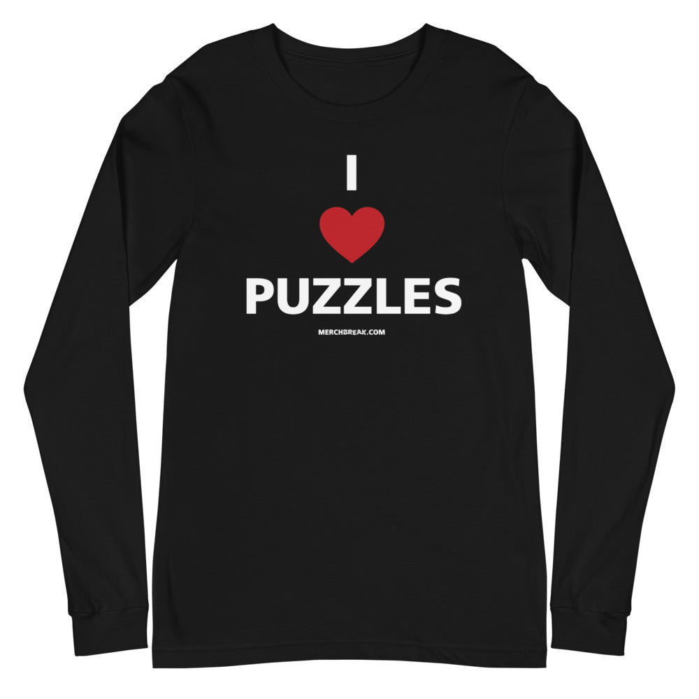 I Heart Puzzles Long Sleeve Tee