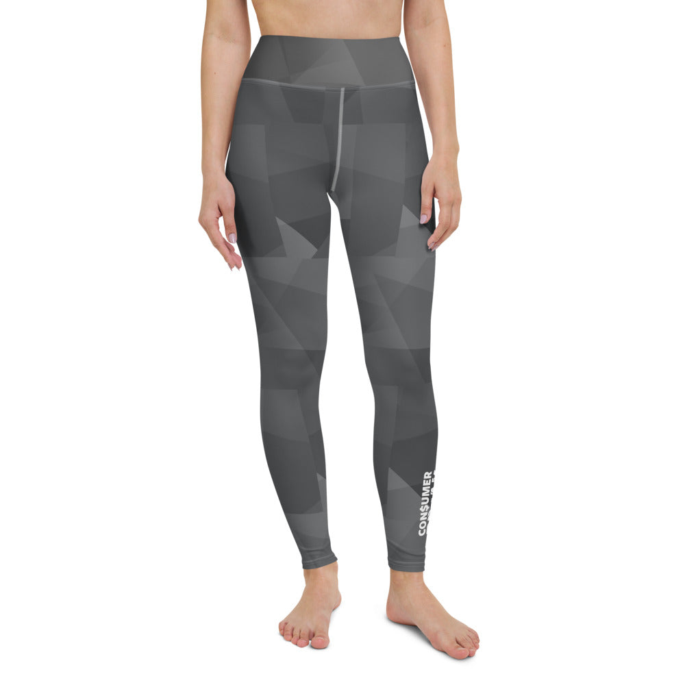 Black Pattern ConsumerBreak® Yoga Leggings