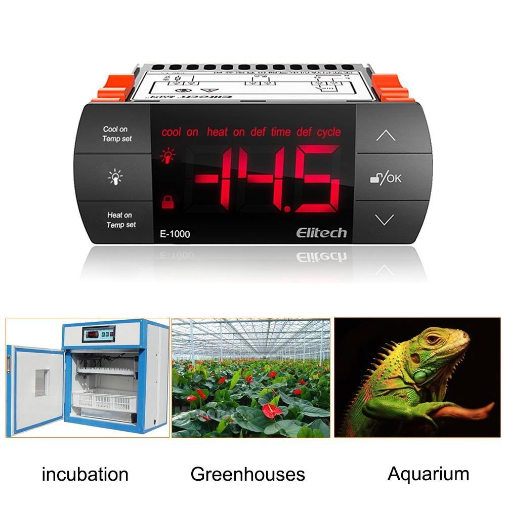 Elitech E-1000 110V Thermostat Temperature Controller Incubator Aquarium - Elitechustore