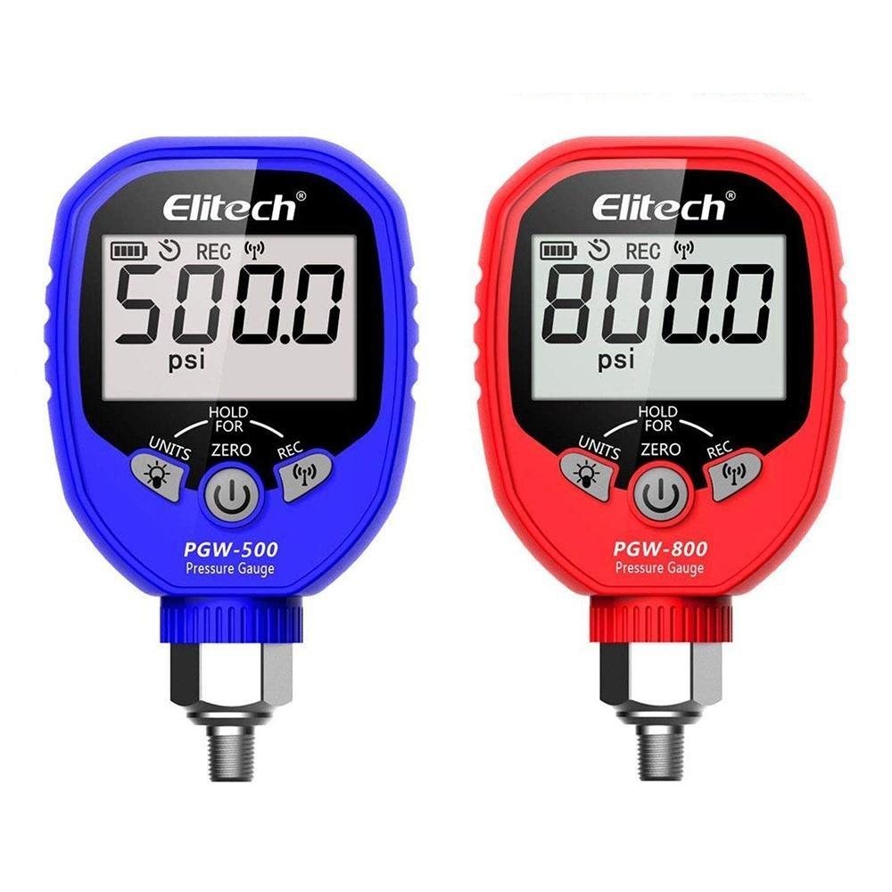 Elitech PGW-500/PGW-800 Bluetooth Digital Pressure Gauge HVAC 87 Refrigerants - Elitech Technology, Inc.