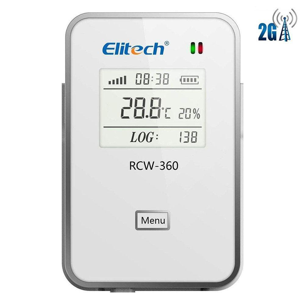 Elitech RCW-360 2G Temperature and Humidity Data Logger Temperature Recorder SIM Card Data Logger APP Cloud Data Storage Cold Chain Transportation - Elitech Technology, Inc.