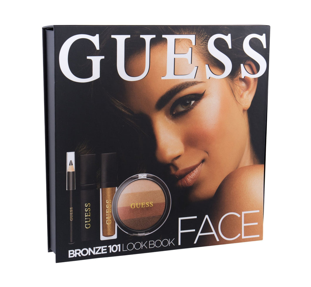 Guess Face Bronze 101 Face Kit: 1 Compact + 1 Eyeliner + 1 Mascara + 1 Lipstick + 1 Mirror