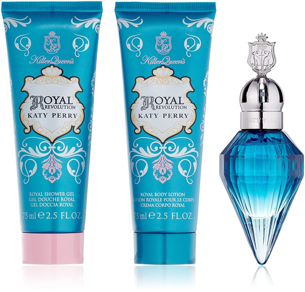 Set - Royal Revolution 30ml Edp Spr + 75ml S/G + 75ml B/L