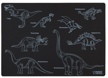Load image into Gallery viewer, Chalkboard Dinosaur Placemat