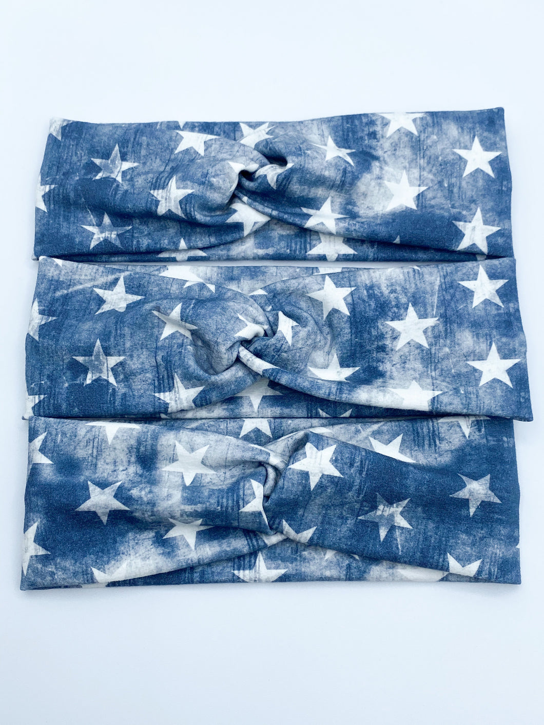 PREORDER Distressed Navy Stars Headband
