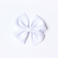 Load image into Gallery viewer, little loper's dainty butterfly clip - white