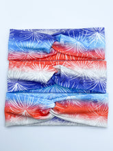 Load image into Gallery viewer, PREORDER Red, White, & Blue Fireworks Headband