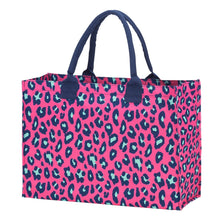 Load image into Gallery viewer, Leopard Hot Pink Leopard Tote
