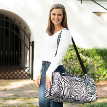 Load image into Gallery viewer, Zebra Duffel Bag