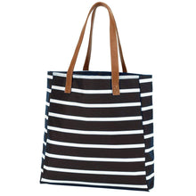 Load image into Gallery viewer, Black Stripe Tote