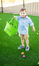 Load image into Gallery viewer, Green Felt Easter Bucket