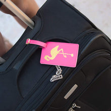 Load image into Gallery viewer, Flamingo Luggage Tag
