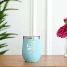 Load image into Gallery viewer, Losing My Mind Teal 12oz Insulated Tumbler
