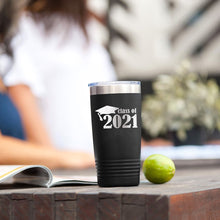 Load image into Gallery viewer, Class of 2021 Black 20oz Insulated Tumbler