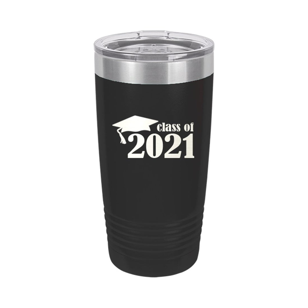 Class of 2021 Black 20oz Insulated Tumbler
