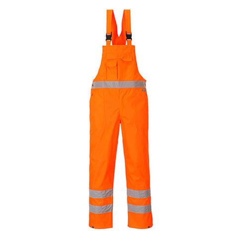 Hi-vis Bib & Brace - Unlined Large