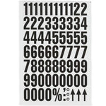 Magnetic Numbers 43mm White Background Magnetic Numbers For Quick Labelling